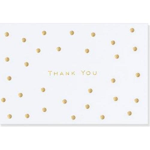 Boxed Card Thank You Gold Dots