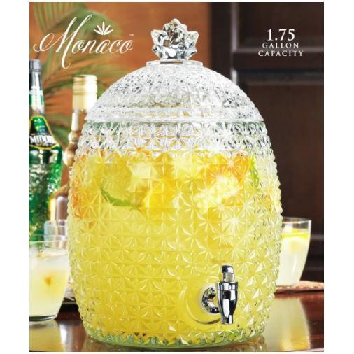 Beverage Drink Dispenser 1.75gal Monaco Facted Pineapple