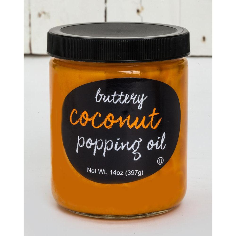 Popping Topping Oil, Buttery Coconut
