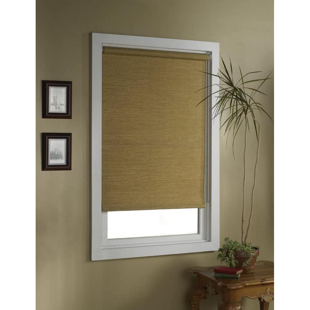 Deluxe Roller Shade Woven Paper Wicker 28in X 72in
