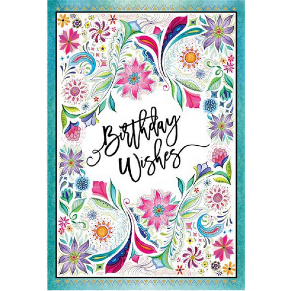 Birthday - Wishes Floral Frame