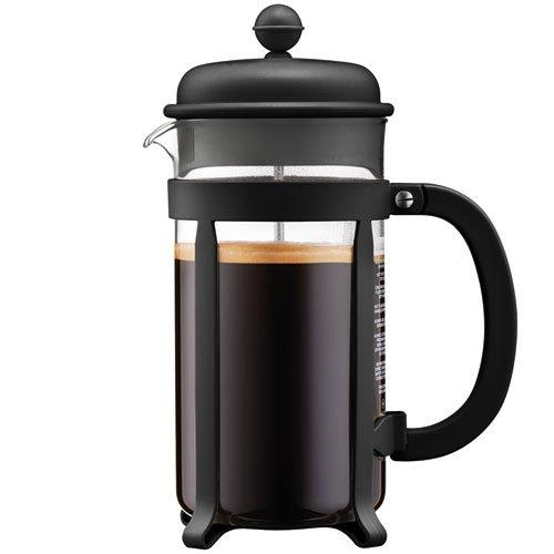 Coffee Maker French Press Java 8cup 34oz Black Tall