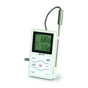 Kitchen Thermometer Digital Timer Probe Dual Sensor