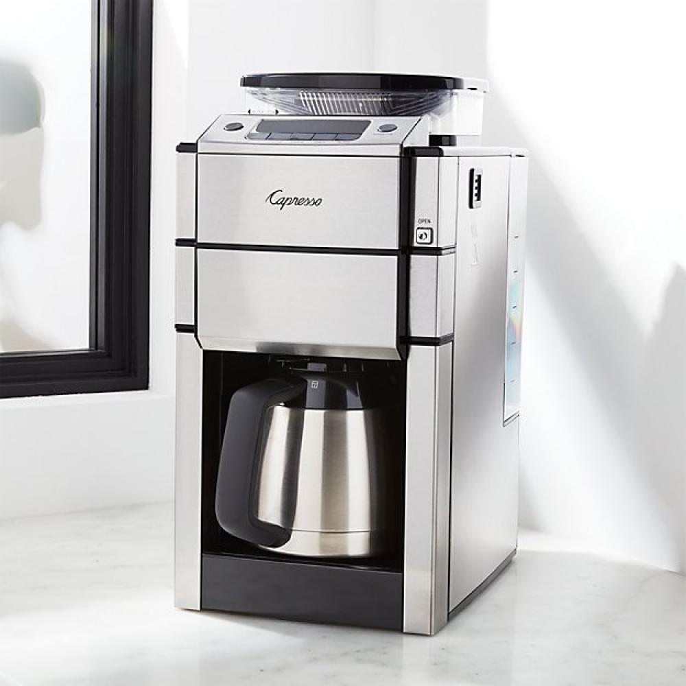 Electric Coffee Maker Coffeeteam Plus 10-cup Grind/brew With Thermal Carafe
