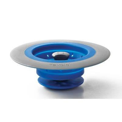 Sink Drain Strainer-stopper Collapsible Silicone Blue