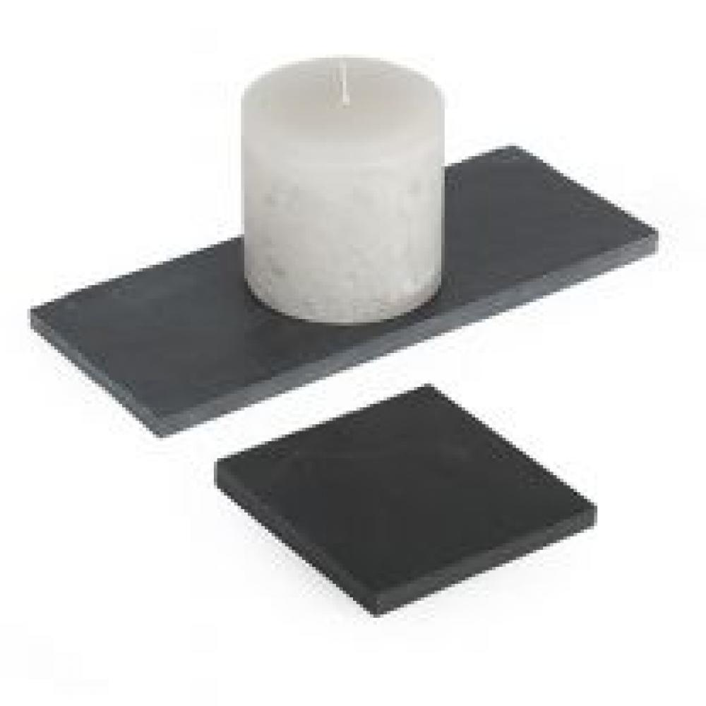 Slate Candle Tray  - 4 X 4in  Square