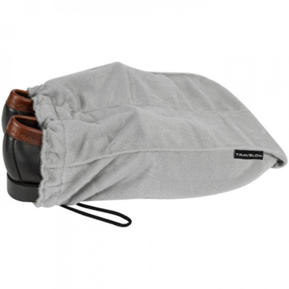 Divided Shoe Bags Gray Fleece set of 2