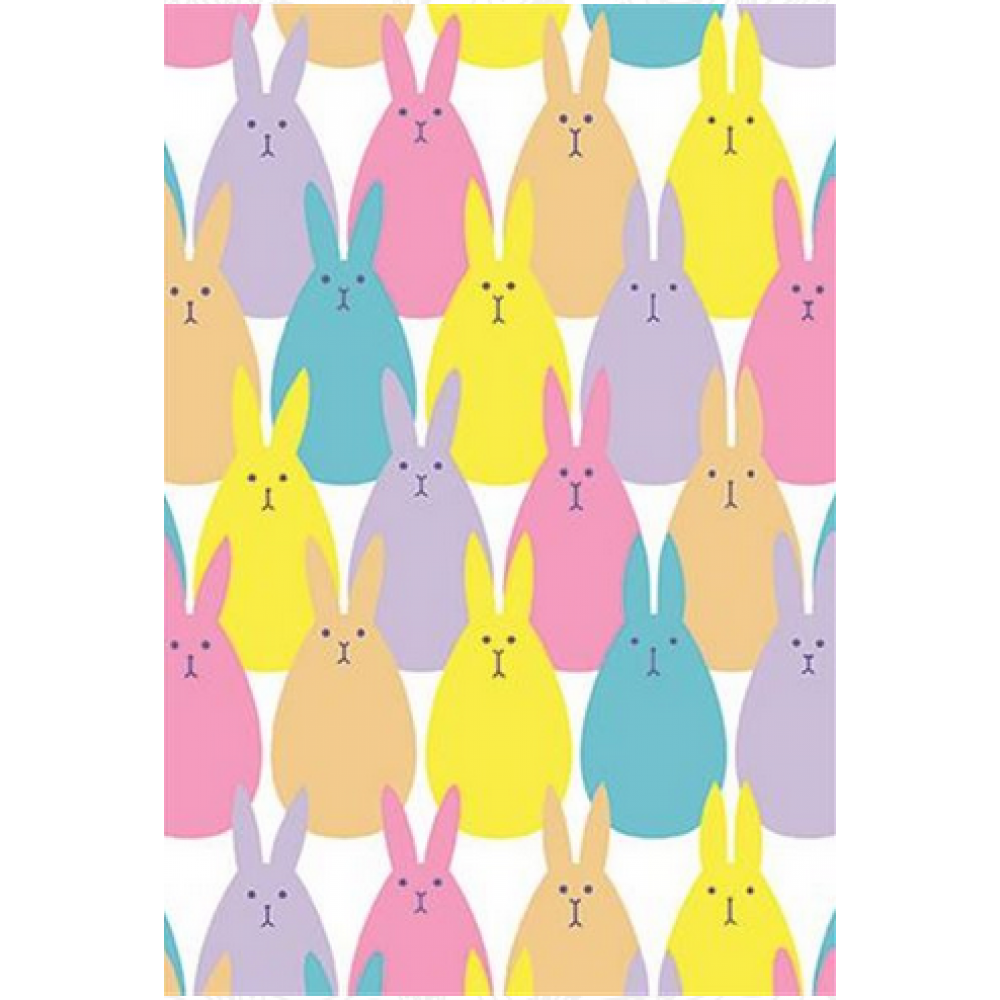 Easter - Bunnies Pattern with Glitter