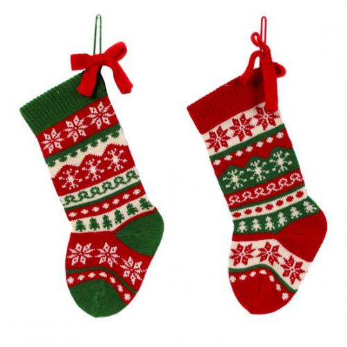 Christmas - Stocking - Knit Nordic 2 Assorted