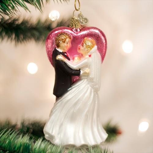 Christmas Ornament Wedding Dancers