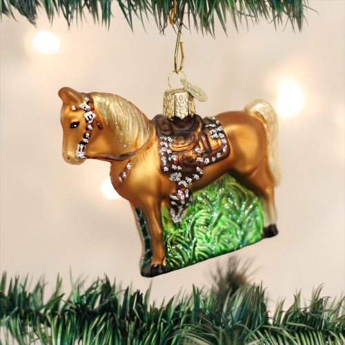 Christmas Ornament Western Horse
