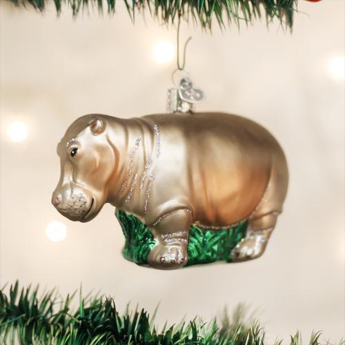 Christmas Ornament Hippopotamus