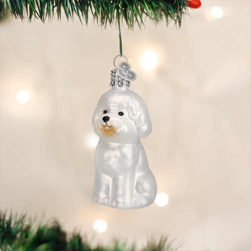 Christmas Ornament Dog Bichon Frise
