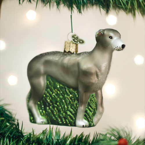 Christmas Ornament Dog Greyhound