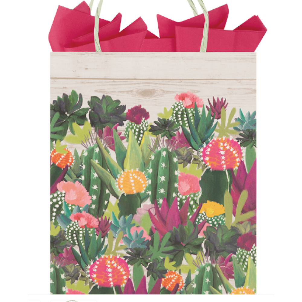 Gift Bag Medium Colorful Cacti