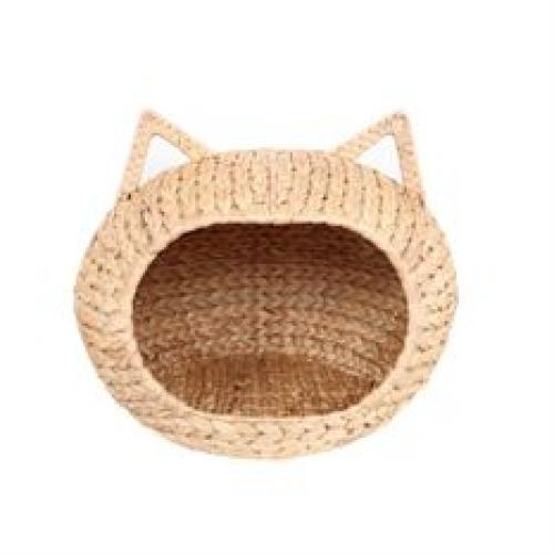 Pet Bed Woven Cat Face Basket/bed