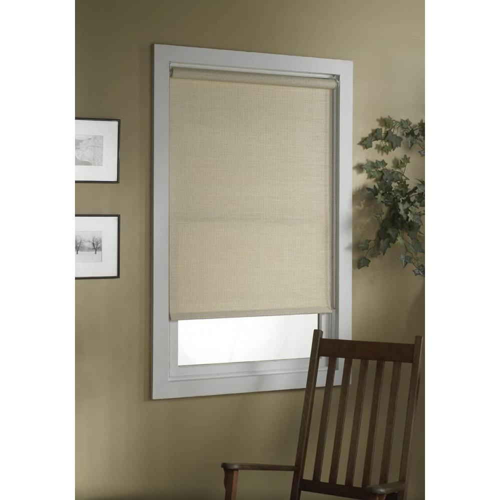 Deluxe Roller Shade Woven Paper Natural 32in X 72in