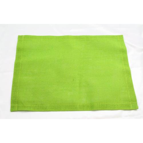 Placemat Fine Jute 13x17 Apple Green