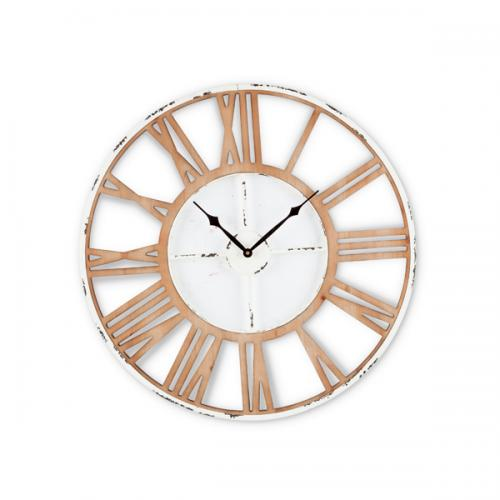 Wall Clock Wooden & Metal