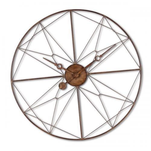 Wall Clock Metal Wire Industrial Wheel