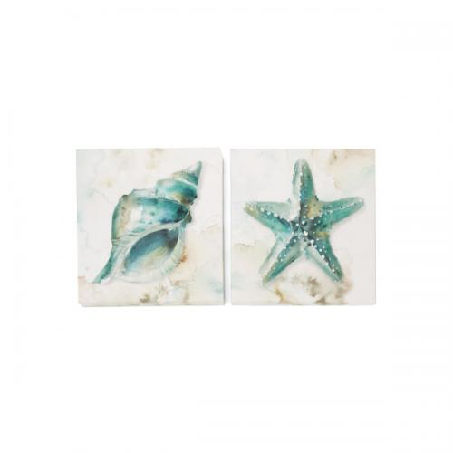 Canvas Print Shells 12in X 12in 2 Assorted Styles ( Sold Separately)