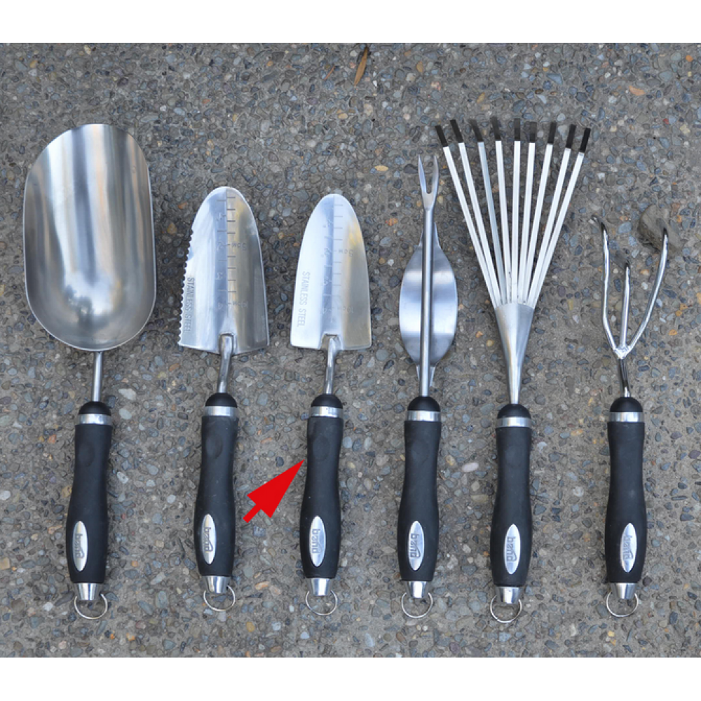 Garden Tool Stainless Steel Rubber Handle Transplanter