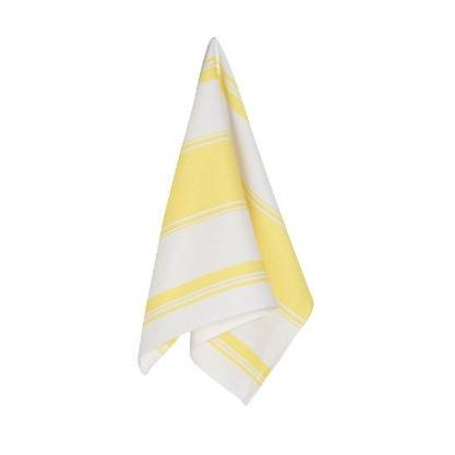 Tea Towel Symmetry Lemon Yellow