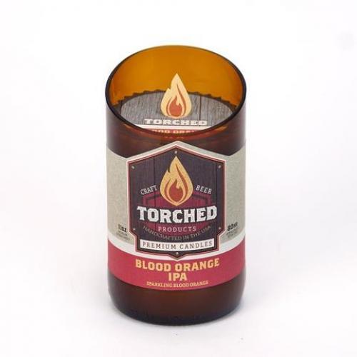 Torched Bomber Bottle Candle - Blood Orange Ipa
