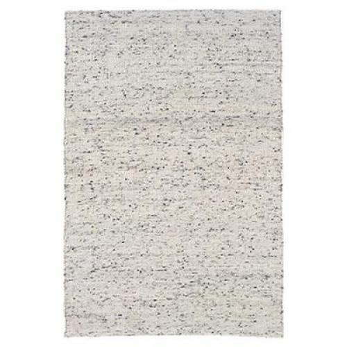 Verginia Berber Collection Natural/black Rug  5.3 X 7.6