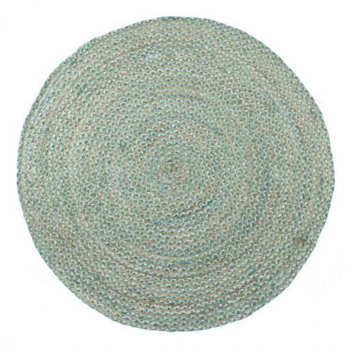 Round 5ft Valencia Rug Soft Teal