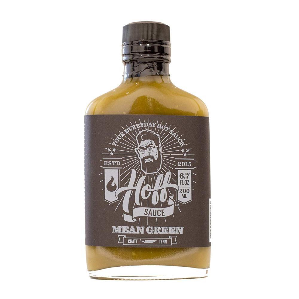 Barbecue Hot Sauce Hoffs Mean Green 7oz