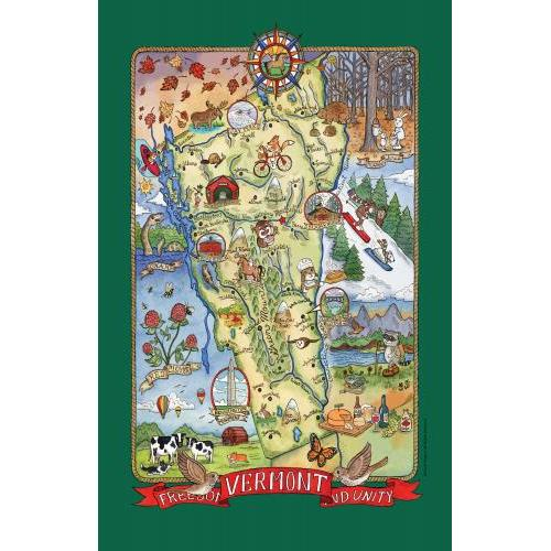 Vermont Tea Towel Adventure Destinations