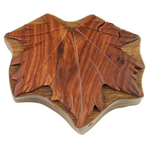 Puzzle Box Maple Leaf