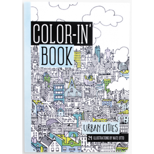Travel Size Coloring Book Urban Cities