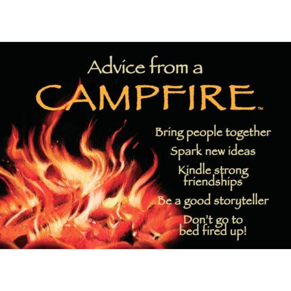Campfire Advice Magnet