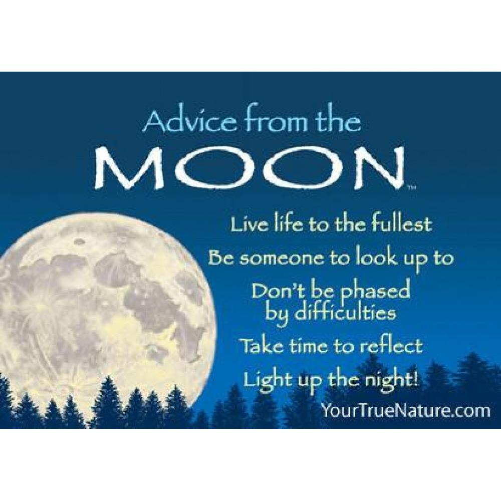 Moon Advice Magnet