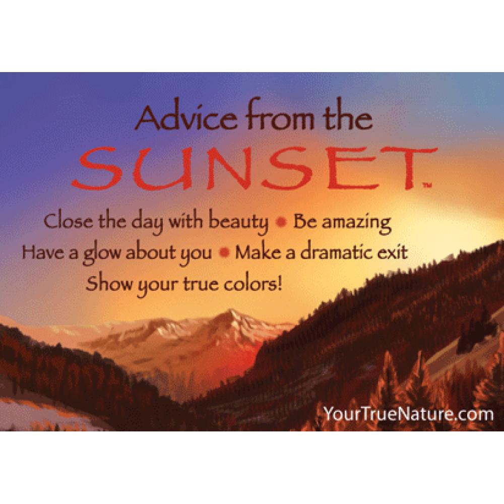 Sunset Advice Magnet