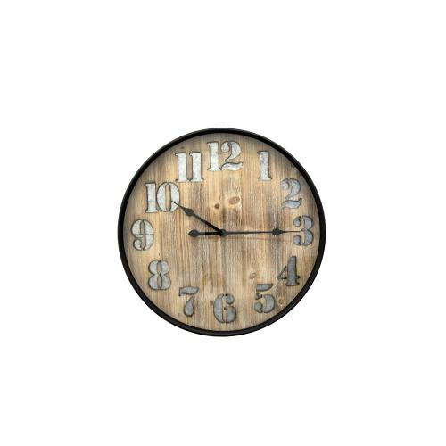 Wall Clock Face-wood Frame-black