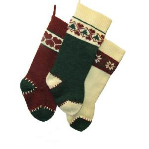 Stocking - Heavy Knit 3 Assorted