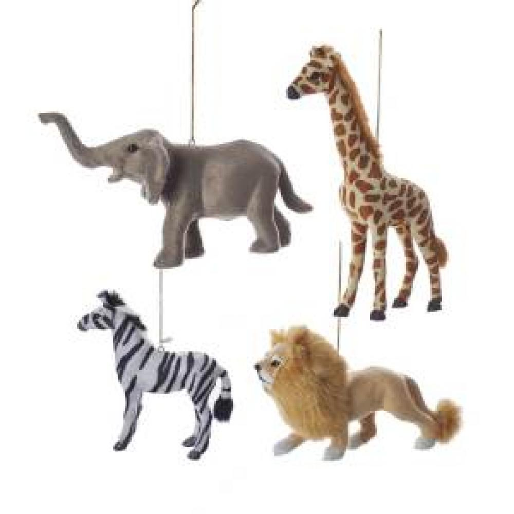 Ornament - Jungle Furry Animals 4asst