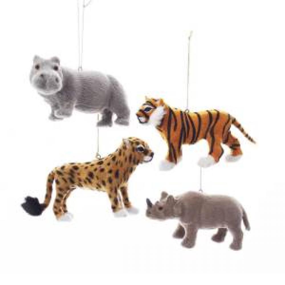 Ornament - Furry Jungle Animals 3inch