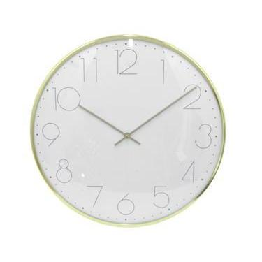 Wall Clock Face-white Frame-gold