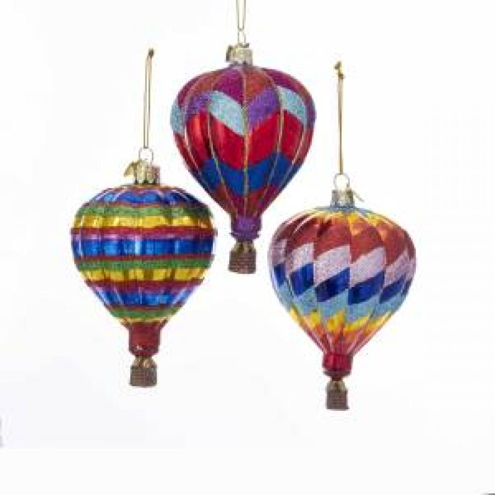 Ornament - Hot Air Balloons Noble Gems 3 Asst