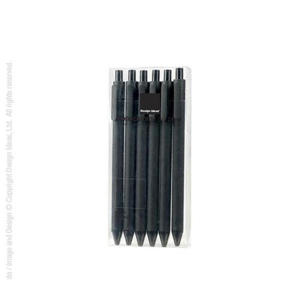 Monochrome Gel Pens Black W/ Black Ink