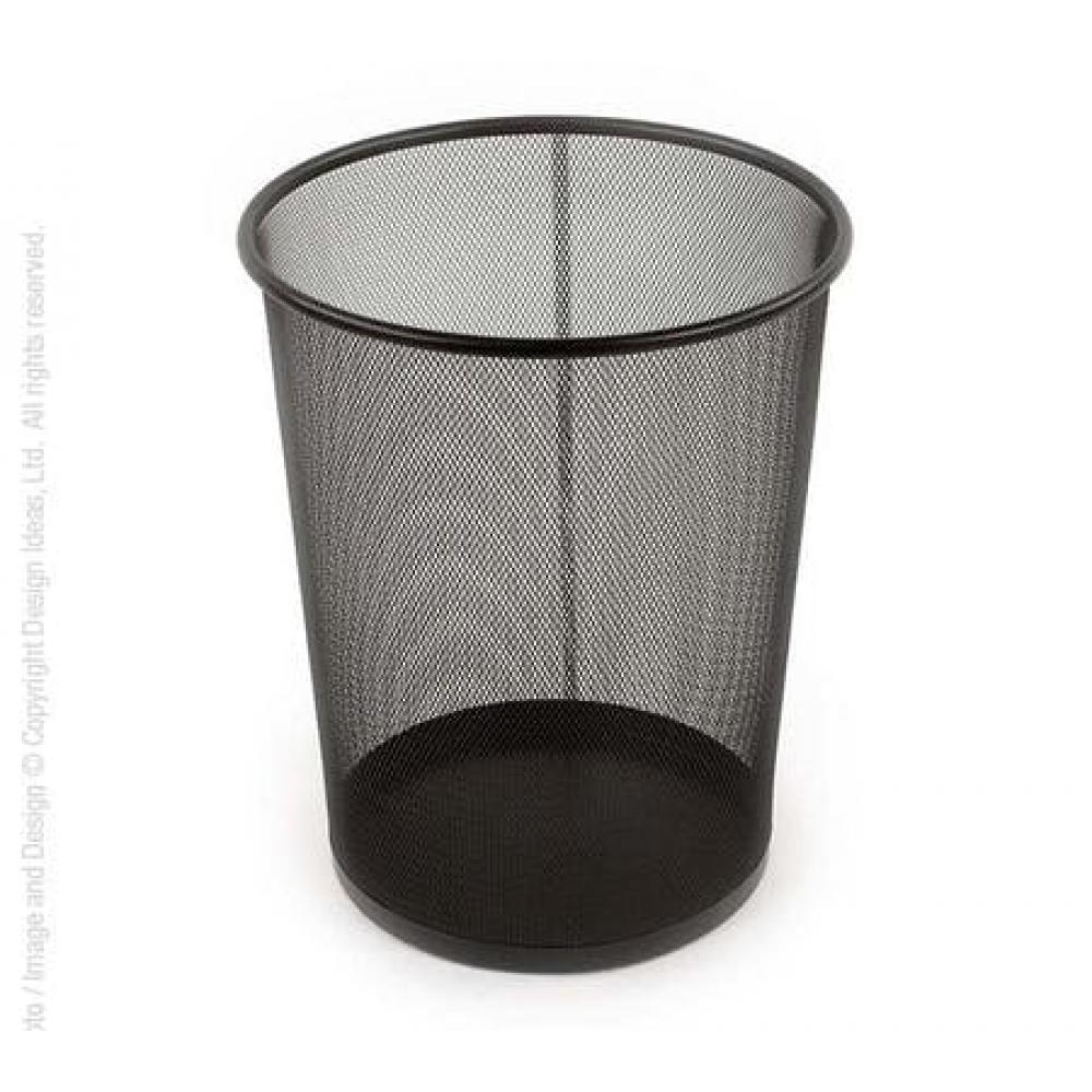 Meshworks Waste Can Black
