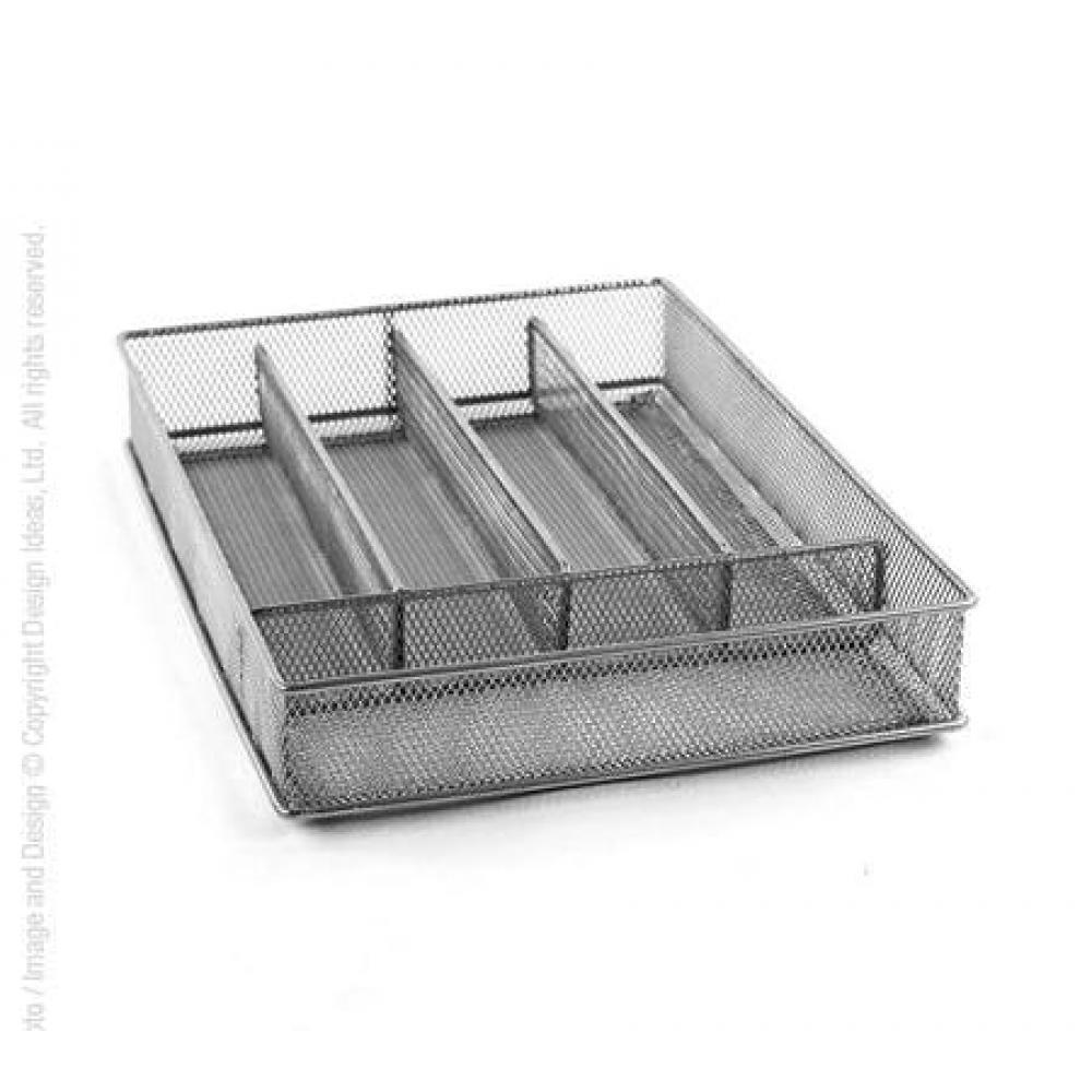 Mesh Cutlery Tray Small - Silver