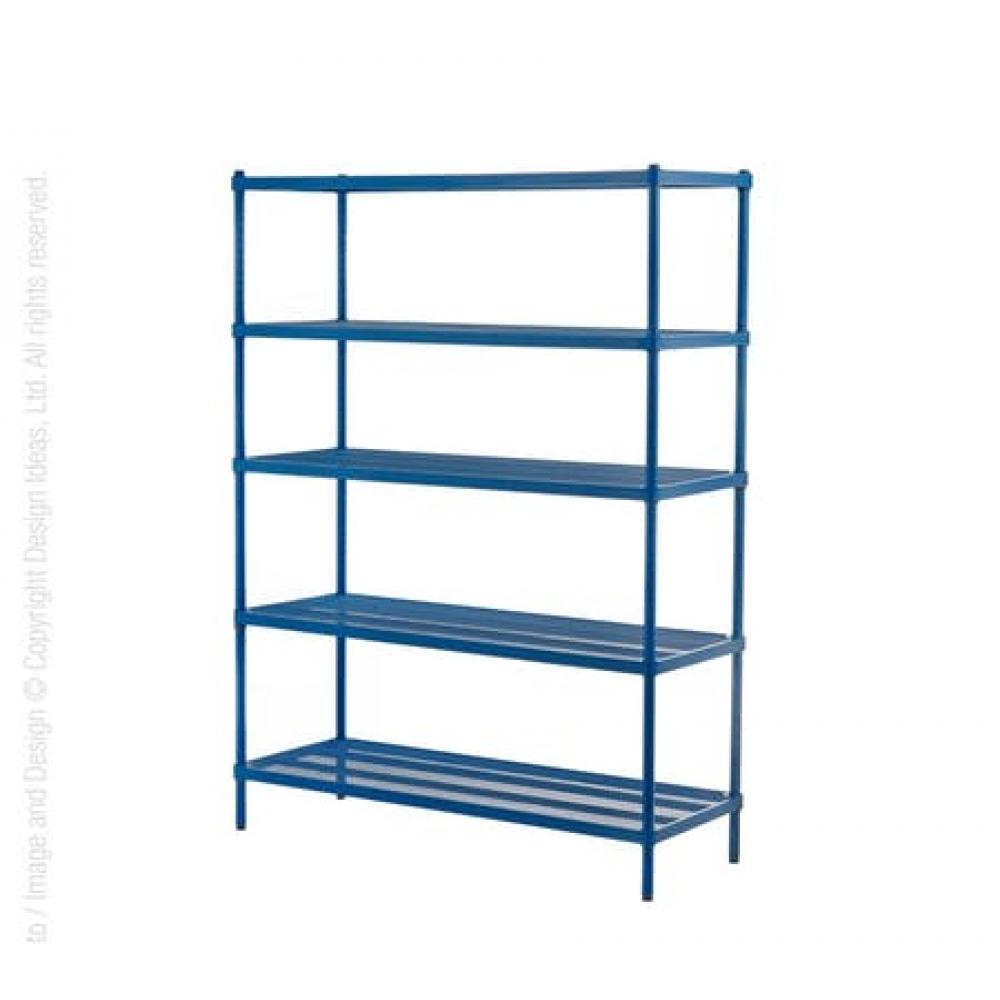 Shelving Unit - Mesh - 5-tier - Petrol Blue
