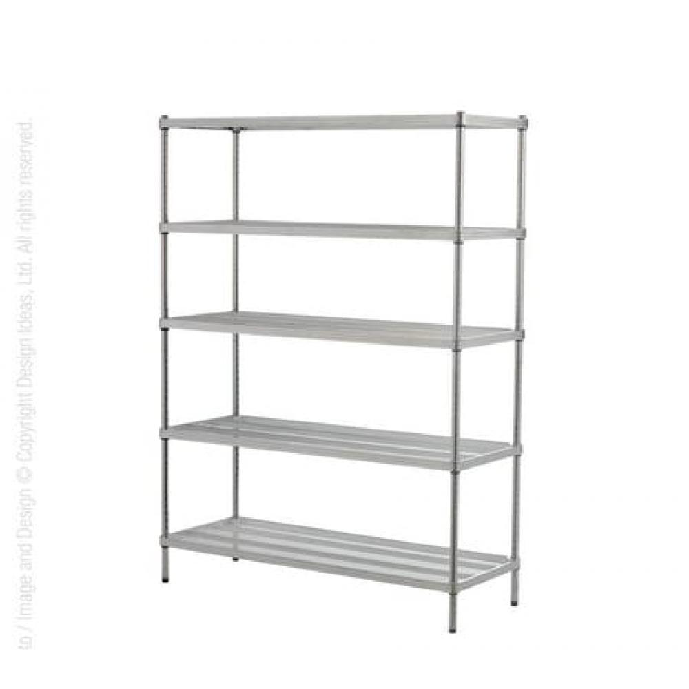 Shelving Unit - Mesh - 5-tier - Silver