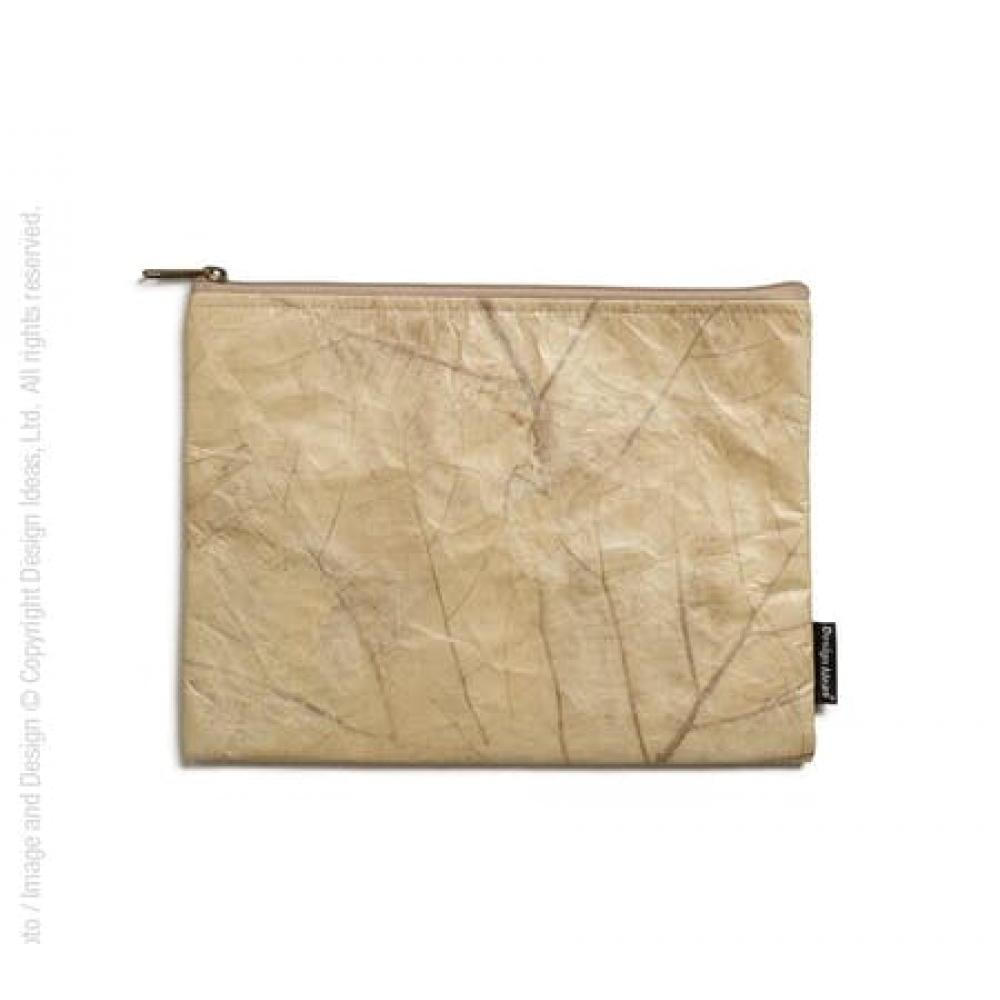 Folio Tablet Leaf Pouch Tan