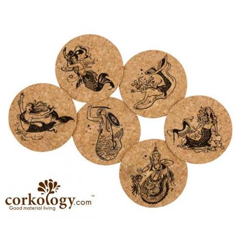 Coasters - Mermaids Set Of 6